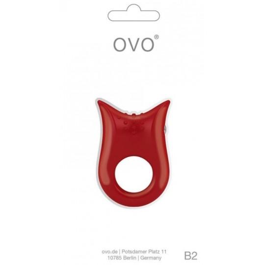 Anillo Vibrador OVO B2.- Rojo.