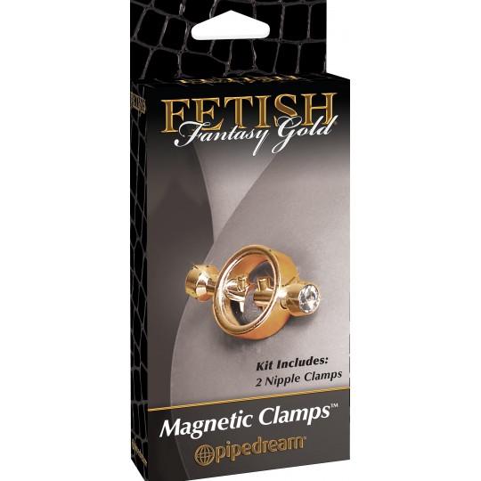 Pinzas Magneticas para Pezones Fetish Fantasy Gold.