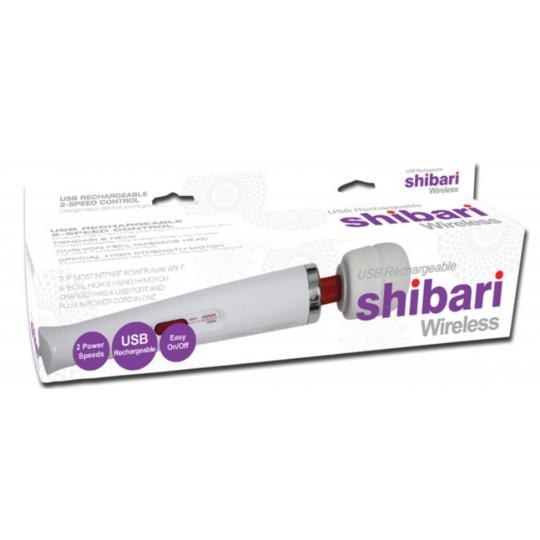 Masajeador y Estimulador Shibari Recargable USB Blanco.