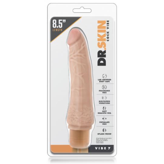 Vibrador realista -Dr. Skin - Vibe 6 - Chocolate