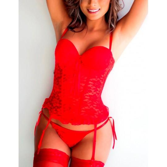 Corsé Violeta. Rojo