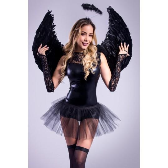 Disfraz Angel Negro con Tutu.