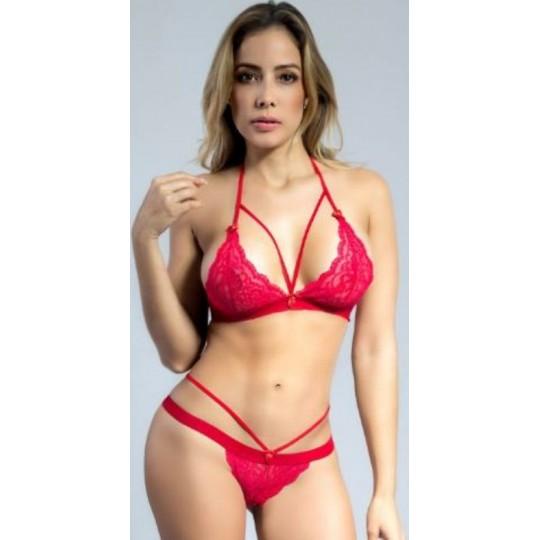 Conjunto Bralette - Rojo.
