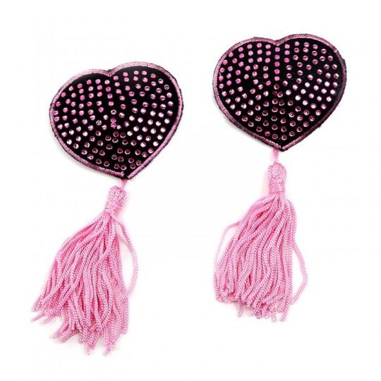 Cubre Pezones en Forma de Corazón - Color Rosado.