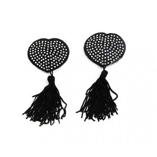 Cubre Pezones en Forma de Corazón - Color Negro.
