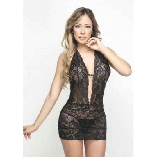 Mini Vestido Espalda Descubierta.