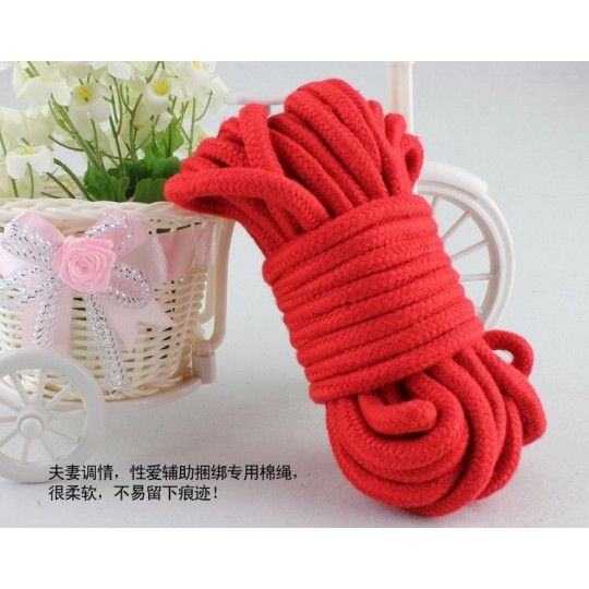 Cuerda Japonesa De Bondage Roja.