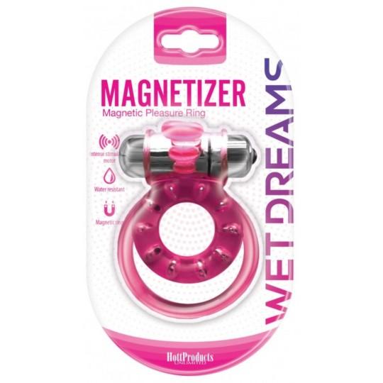 Anillo Vibrador Magnetic Rosado.