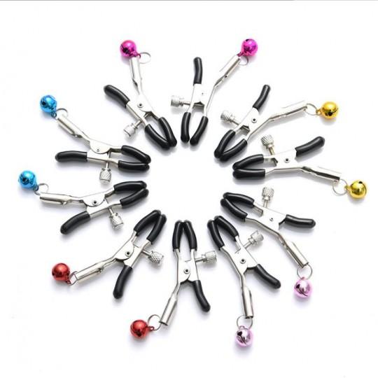 Pinzas Para Pezones con Cascabel de Colores.